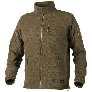 Helikon felpa in pile texture Alpha Tactical in Coyote