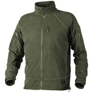 Helikon felpa in pile texture Alpha Tactical in Olive Green