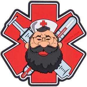 Helikon patch Beardman Medic in rosso