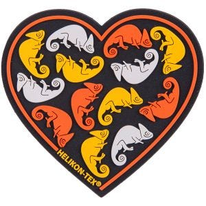 Helikon patch cuore in nero