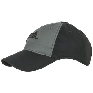 Helikon Logo Cap Polycotton Ripstop Black / Shadow Grey