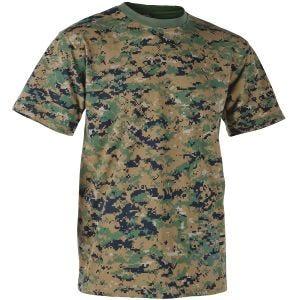 Helikon T-shirt USMC in Digital Woodland