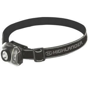 Highlander torcia da testa Flame 3+4 LED in nero