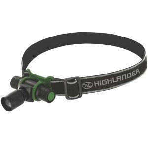 Highlander torcia da testa Focus 3W LED in nero/verde oliva