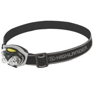 Highlander torcia da testa Spark 4+2 LED in nero/argento