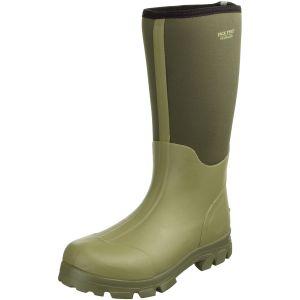Jack Pyke stivali Wellington Ashcombe in neoprene verde oliva chiaro/verde