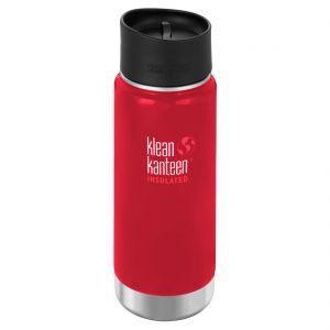 Klean Kanteen borraccia termica ad apertura ampia con tappo per caffè 2.0 473 ml in Mineral Red