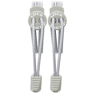Lock Laces stringhe elastiche per scarpe in Cool Grey