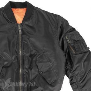 Mil-Tec giacca da pilota MA-1 in nero