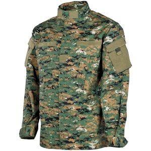 MFH giacca da campo ACU in Ripstop Digital Woodland