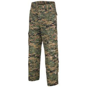 MFH pantaloni da combattimento ACU in Ripstop Digital Woodland