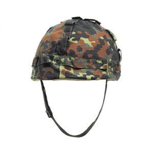 MFH casco in plastica con rivestimento in stoffa in Flecktarn