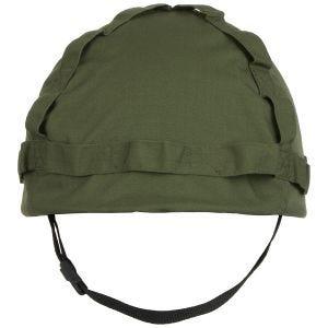 MFH casco in plastica con rivestimento in stoffa in OD Green