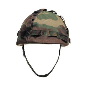 MFH casco in plastica con rivestimento in stoffa in Woodland