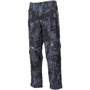 MFH pantaloni Mission da combattimento in Ripstop in Snake Black