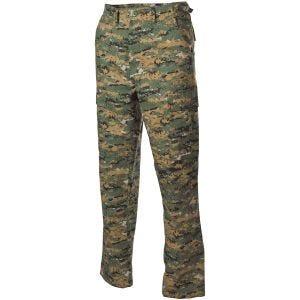 MFH pantaloni BDU da combattimento in Ripstop Digital Woodland