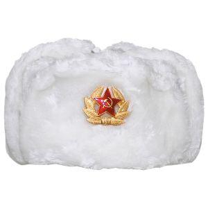 MFH cappello russo invernale con badge in bianco