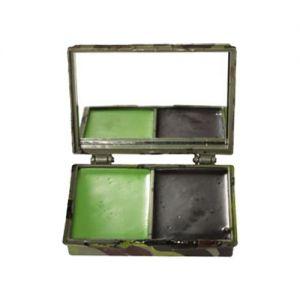Mil-Tec kit trucco mimetico viso 2 colori con specchio in Woodland