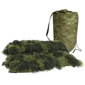 Mil-Tec copertura ghillie Anti Fire 140x100cm in Woodland