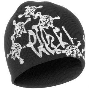 Mil-Tec berretto acrilico in nero con stampa a teschio