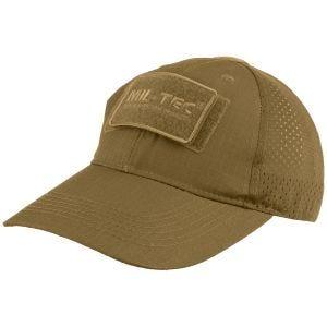Mil-Tec cappellino da baseball con retina in Dark Coyote