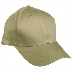 Mil-Tec cappellino da baseball con fascia in plastica in cachi