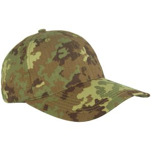 Mil-Tec cappellino da baseball con fibbia in metallo in Ripstop Vegetato Woodland