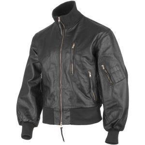 Mil-Tec giacca in pelle da pilota esercito tedesco in nero