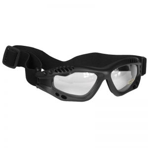 Mil-Tec occhialini protettivi Commando Air Pro a lenti chiare e struttura in nero