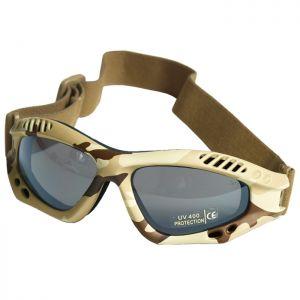Mil-Tec occhialini protettivi Commando Air Pro a lenti fumé e struttura in Desert