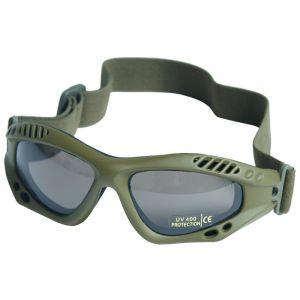Mil-Tec occhialini protettivi Commando Air Pro a lenti fumé e struttura in verde oliva