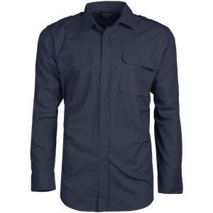 Mil-Tec camicia a maniche lunghe RipStop in Navy blue
