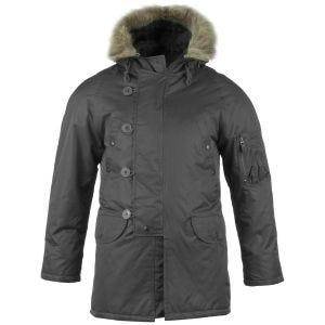 Mil-Tec giacca da pilota N-3B in nero