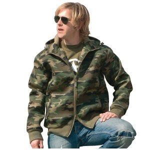 Mil-Tec giacca in neoprene con interno in pile in Woodland