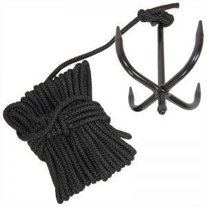 Mil-Tec ancora con corda in nero