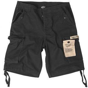 Mil-Tec shorts cargo da paracadutista prelavati in nero