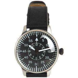 Mil-Tec orologio effetto vintage da pilota con quadrante nero