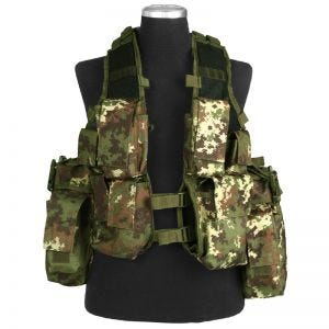 Mil-Tec gilet da assalto South African in Vegetato Woodland