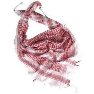 Mil-Tec kefiah in bianco / rosso