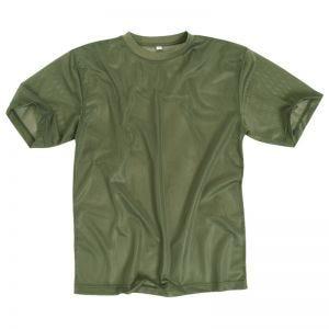 Mil-Tec T-Shirt in mesh verde oliva