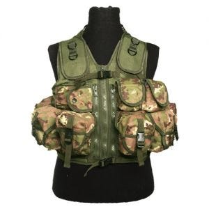 Mil-Tec gilet tattico Ultimate Assault in Vegetato Woodland