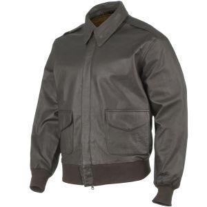 Mil-Tec giacca in pelle da pilota A-2 in marrone