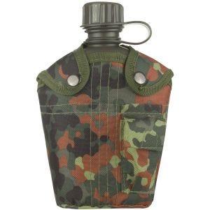 Mil-Tec borraccia militare da 1 litro con custodia in Flecktarn