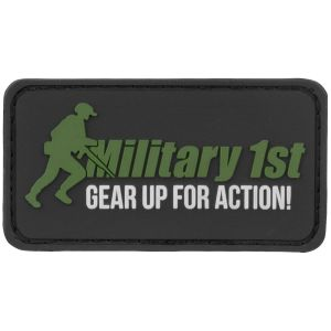 Military 1st patch Gear Up For Action in nero/bianco/verde