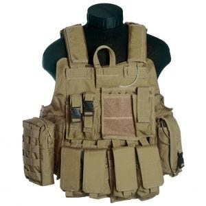 Mil-Tec gilet Combat MOLLE M.Release in Coyote