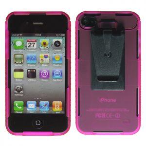 Nite Ize custodia con funzione connect per iPhone 4/4S in rosa trasparente