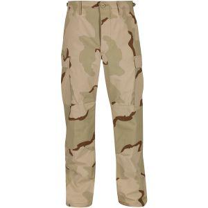 Propper pantaloni BDU in cotone RipStop con patta e bottone in Desert 3 colori
