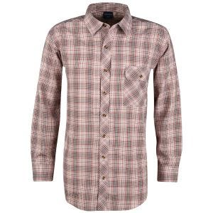 Propper camicia a maniche lunghe con chiusura a bottoni Covert in Barn Red Plaid
