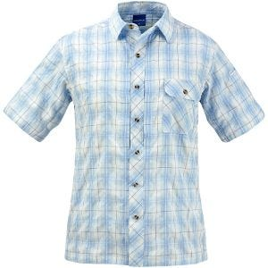Propper camicia a maniche corte con chiusura a bottoni Covert in Light Blue Plaid