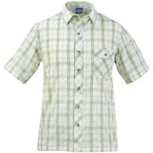 Propper camicia a maniche corte con chiusura a bottoni Covert in salvia Plaid